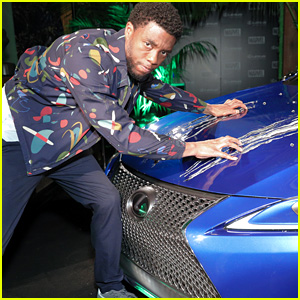 Chadwick Boseman Reunites with Black Panther's Lexus at Comic-Con!
