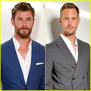Chris Hemsworth & Alexander Skarsgard Suit Up for BOSS Show During Men's Fashion Week!