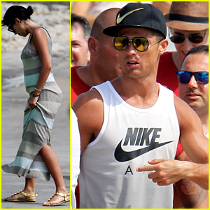 Cristiano Ronaldo Visits Formentera with His Possibly Pregnant Girlfriend Georgina Rodriguez