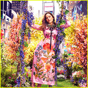 Dakota Johnson Is Gucci Gorgeous in Surprise Times Square Garden