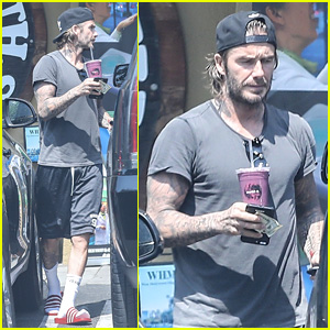 David Beckham Shows Off Tattooed Arms After Sweat Sesh