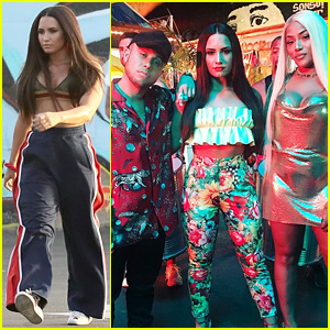Demi Lovato Jax Jones Start Filming Instruction Music Video