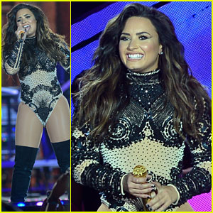 Demi Lovato Sparkles at Villa Mix Festival in Brazil