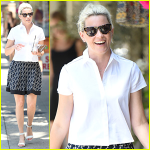 Elizabeth Banks Steps Out in Skirt & Heels for Coffee Run