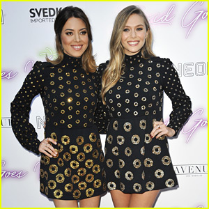 Here's Why Elizabeth Olsen & Aubrey Plaza's Matching Dresses Made So Much Sense