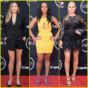 Elizabeth Olsen, Rachel Lindsay, & Lindsey Vonn Go Glam for ESPY Awards 2017