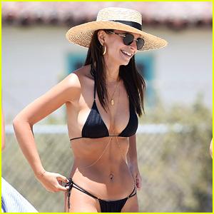 Emily Ratajkowski Hits the Beach in Her Bikini