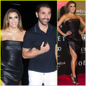Eva Longoria Rocks LBD at Global Gift Party 2017 in Spain