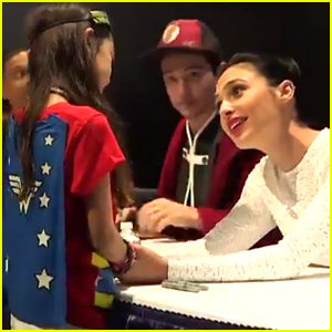 Gal Gadot Cheers Up Young Wonder Woman Fan at Comic-Con - Watch Now!