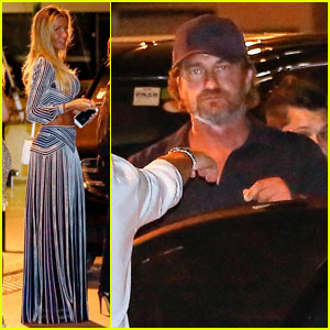 Gerard Butler Enjoys Cabaret Night Out in Saint Tropez!