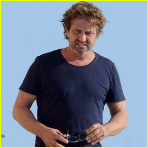Gerard Butler Shows Off His Growing Hair During Spain Vacay