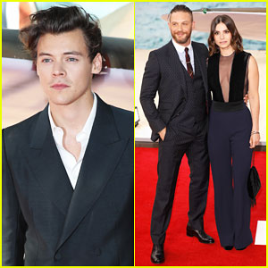 Harry Styles Joins Tom Hardy & 'Dunkirk' Cast at London World Premiere!