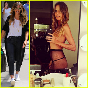 Heidi Klum Skips a Shirt For 'Another Day at the Office'