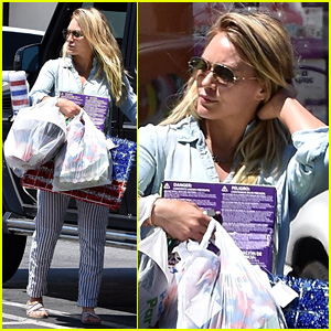 Hilary Duff Stocks Up at Party City Ahead of Fourth of July