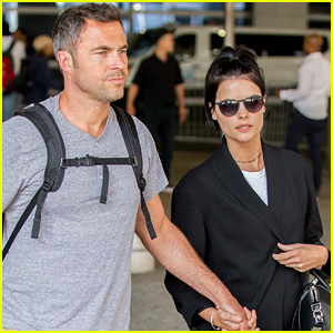 Jaimie Alexander & Boyfriend Airon Armstrong Jet into NYC