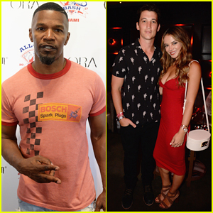 Jamie Foxx, Miles Teller & Girlfriend Keleigh Sperry Live It Up at MLB All-Star Bash!