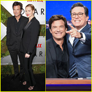 Jason Bateman Takes Over 'The Late Show' After 'Ozark' New York Screening!