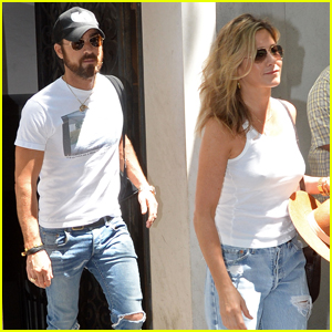 Jennifer Aniston & Justin Theroux Couple Up For Day Out