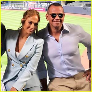 Jennifer Lopez Joins Alex Rodriguez for His Return to Yankees Stadium
