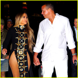 Jennifer Lopez Wears Revealing Outfit for July 4th Taping with Alex Rodriguez By Her Side!