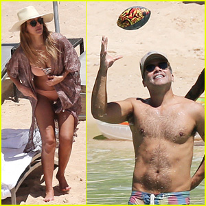 Jessica Alba Lounges in a Bikini With Shirtless Cash Warren