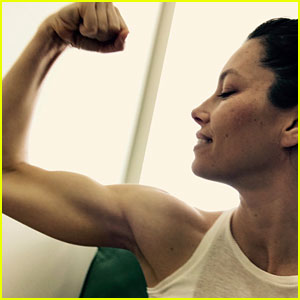 Jessica Biel Shows Off Her Impressive Muscles for a Good Cause