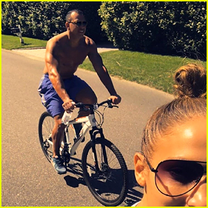 Jennifer Lopez Goes for Bike Ride with Shirtless Alex Rodriguez - Watch the Video!