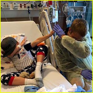 Justin Bieber Surprises Fans at Children's Hospital of Orange County (Video)