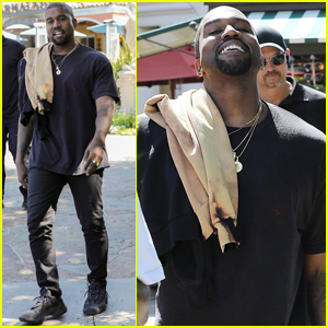 Kanye West Is All Smiles While Out to Lunch With Pusha T