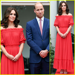 Kate Middleton is Radiant in Red at The Queen's Berlin Birthday