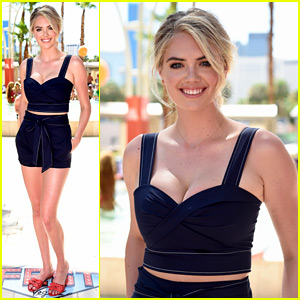 Kate Upton Wears a Two-Piece Outfit for Poolside Fun