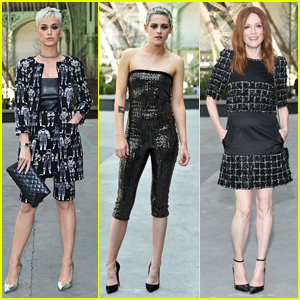 Katy Perry Joins Kristen Stewart & Julianne Moore at Chanel Show in Paris