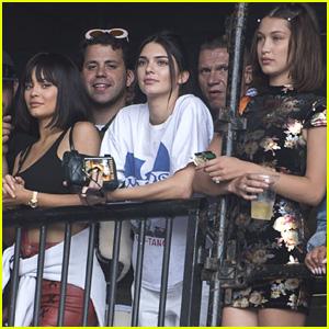 Kendall & Kylie Jenner Watch Travis Scott at Wireless Festival!