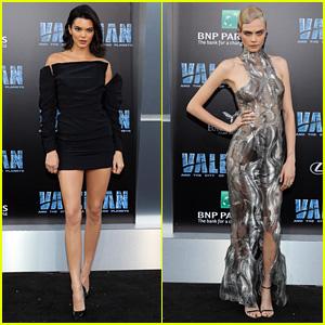 Kendall Jenner Supports Cara Delevingne at 'Valerian' Premiere