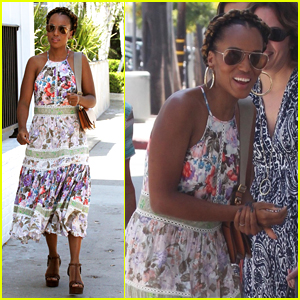 Kerry Washington Hosts Baby Shower for Katie Lowes at Au Fudge