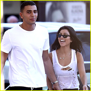 Kourtney Kardashian & Boyfriend Younes Bendjima Hold Hands in St. Tropez!