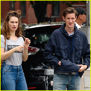 Lily James & Matt Smith Spend the Weekend Together in NYC