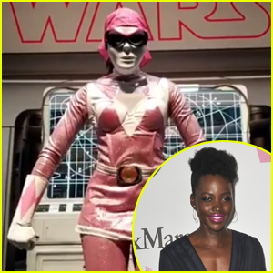 Lupita Nyong'o Was Disguised as the Pink Power Ranger at Comic-Con!