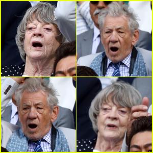 Maggie Smith & Ian McKellan Get Animated at Wimbledon!