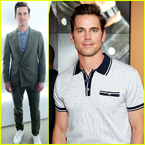 Matt Bomer Looks So Handsome at Men's Fashion Week Shows