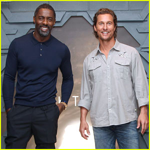 Idris Elba & Matthew McConaughey Promote 'Dark Tower' Ahead of Debut Date!