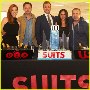 Meghan Markle & 'Suits' Cast Celebrate 100th Episode Milestone Ahead of Season 7 Premiere!