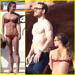 Michael Fassbender & Alicia Vikander Bare Hot Bodies in Spain