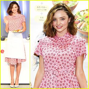 Miranda Kerr Dons an Apron & Star-Printed Dress in Tokyo