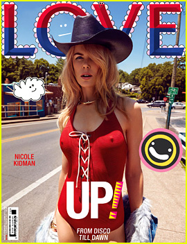 Nicole Kidman Wears Red Hot Swimsuit for 'Love' Mag Cover!