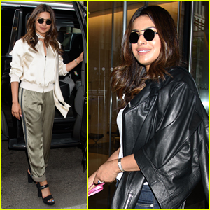 Priyanka Chopra Stuns in Silk Outfit Before Jetting to Paris