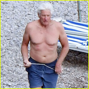 Richard Gere Shows Off Shirtless Physique at 67
