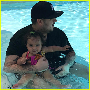 Rob Kardashian Spends 4th of July Swimming with Dream!