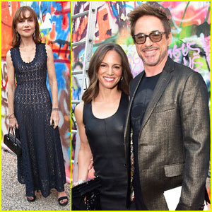 Robert Downey Jr. Helps Honor Isabelle Huppert at  Watermill Center Summer Benefit 2017!