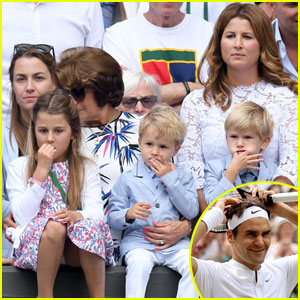 Roger Federer's Wife & Twins Watch Him Win 8th Wimbledon